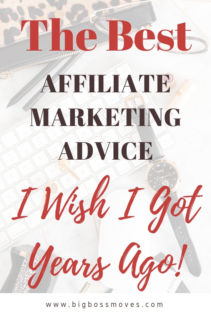 beginner affiliate marketing. The best blogging advice I wish I got years ago. #blogging #beginnerblogging #makemoneyblogging